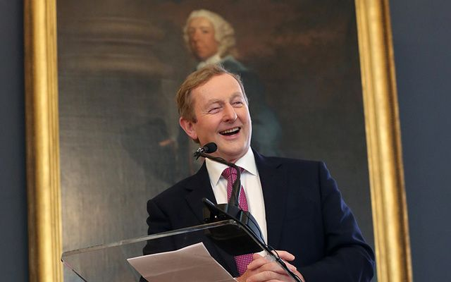 Opening of the New Wing of the National Gallery in Dublin and Enda's Last official engagement as Taoiseach.