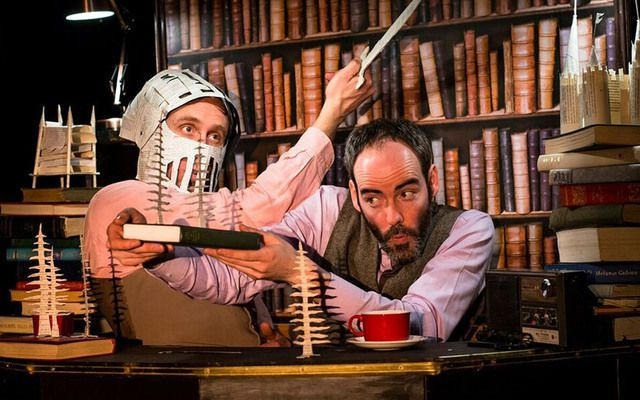 Monkeyshine Theatre Company – image of 'The Magic Bookshop' – children's theatre piece part commissioned by the arts center as part of the 2016 Bookworms Children's Festival.