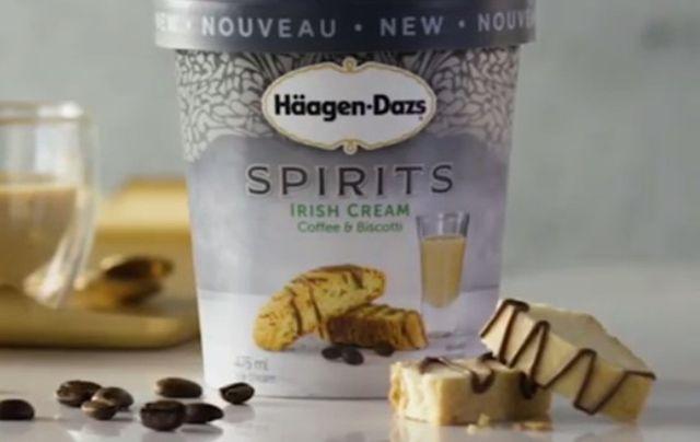 Haagen Dazs\' new Irish Cream Coffee & Biscotti flavor.
