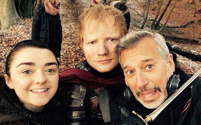 Ed Sheeran appearing in Game of Thrones.
