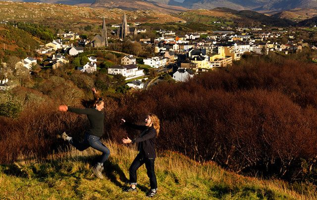 The beautiful town of Clifden, home to the Clifden Arts Fesival, is just one of Galway's creative and cultural hubs.