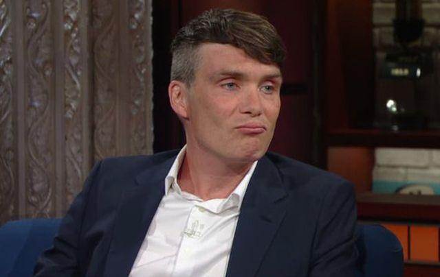 Poor Cillian Murphy having to put up with Colbert.