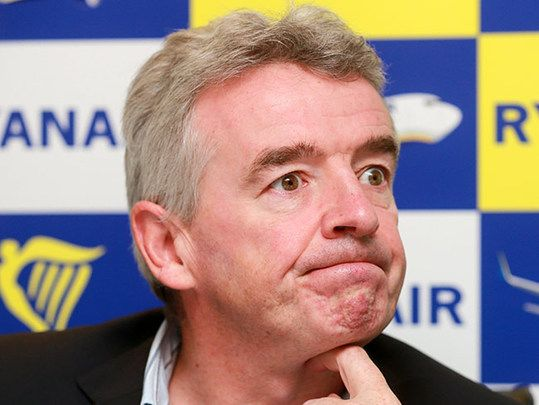 Michael O'Leary, head of Ryanair.
