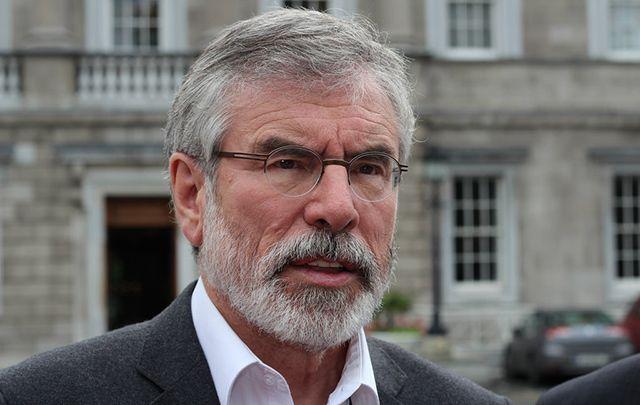 President of Sinn Fein Gerry Adams.