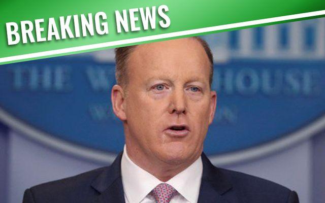 Sean Spicer resigns as White House Press Secretary.