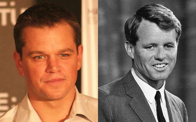 Actor Matt Damon and Robert F. Kennedy.