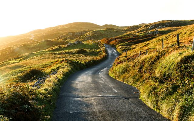 """May the road rise up to meet you"" Irish blessing"