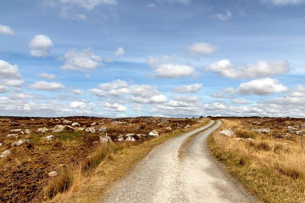 """Spiddal, County Galway: \""""May the road rise up to meet you\"""" Irish blessing"""