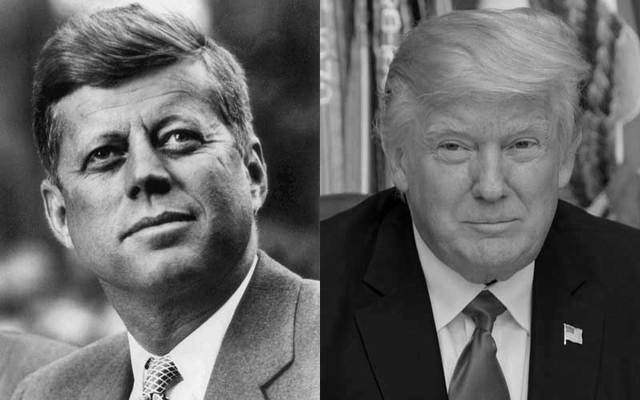 President John F. Kennedy and President Donald Trump.
