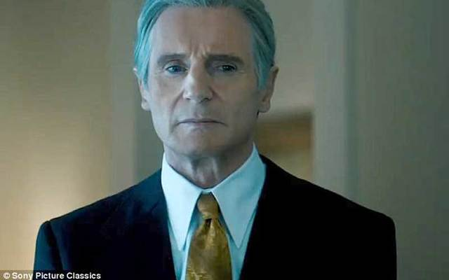 Liam Neeson as Watergate whistleblower Deep Throat in 'The Silent Man.'