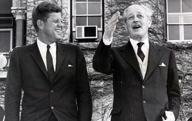 President John F Kennedy and the British Prime Minister Harold MacMillan.