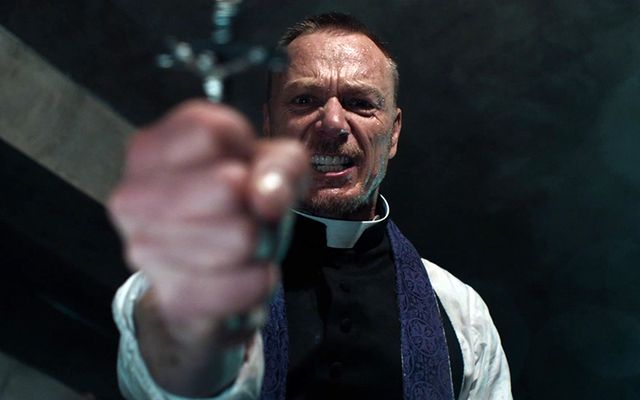 """The power of christ compels you\"": A still from The Exorcist."
