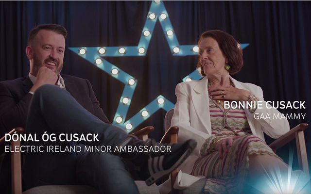 GAA hero Donald Og Cusack and his mother Bonnie.