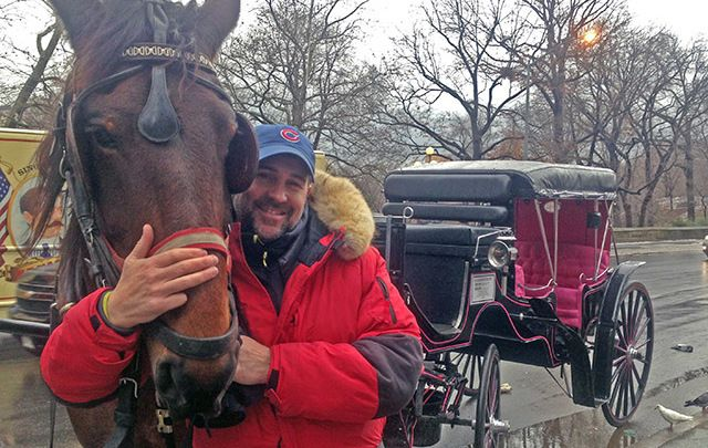 New York Central Park horse carriage driver Colm McKeever.