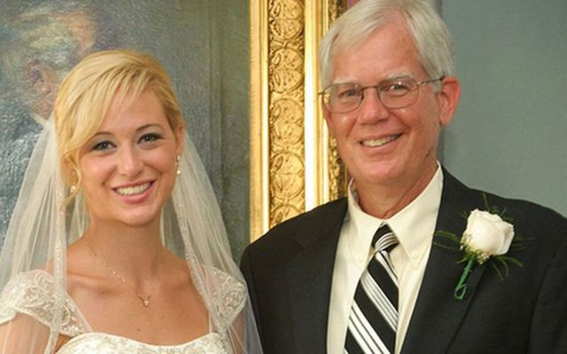 Molly Martens and her father Thomas.