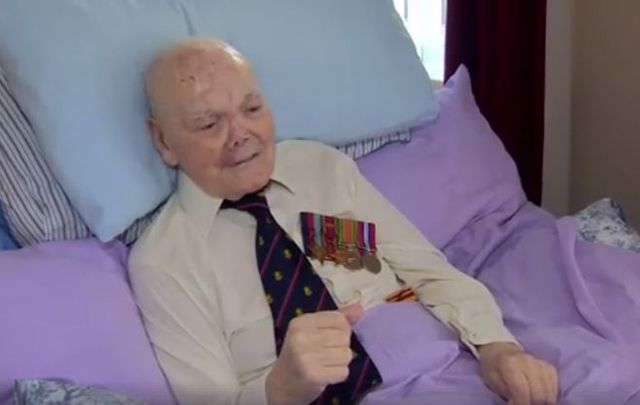 George Rodgers gave an interview to the BBC about his service in WWII