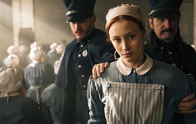 Actress Sarah Gadon as Irish maid Grace Marks in the new Netflix series 'Alias Grace.'