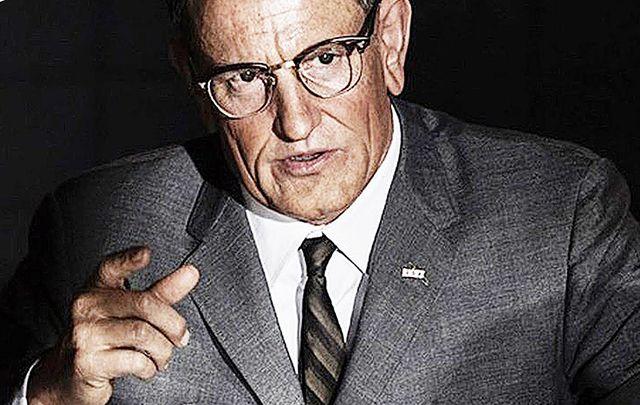 Woody Harrelson as President Lydon B Johnson.