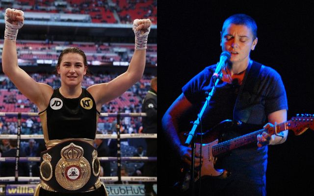 Irish boxer Katie Taylor and singer Sinéád O'Connor.
