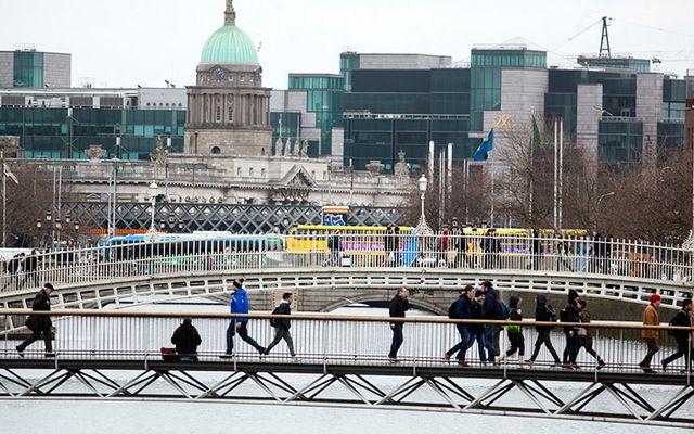The IFSC in Dublin City.