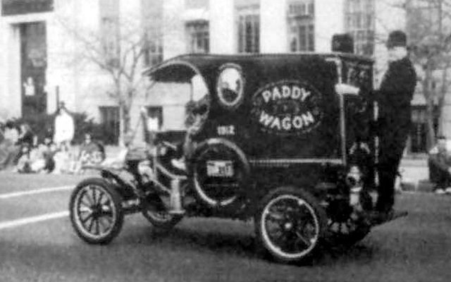 "A police department ""paddy wagon\""... Are we still offended?"