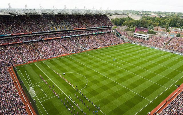 The pitch at Croke Park, the home of the GAA, in Dublin.