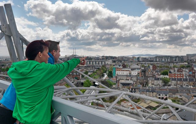 Stunning views from the Ericsson Skyline tour at the GAA Museum, at Croke Park.