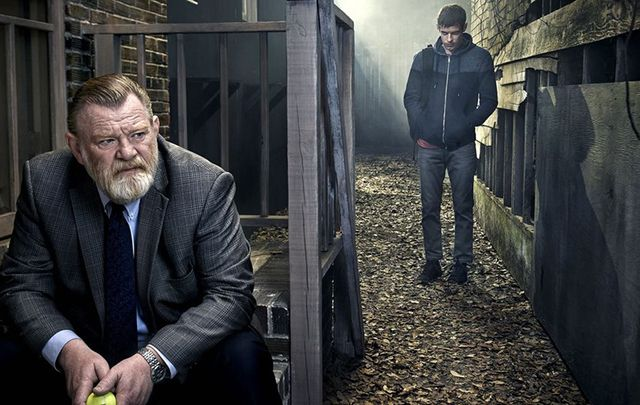 Brendan Gleeson and Harry Treadaway in Mr. Mercedes.