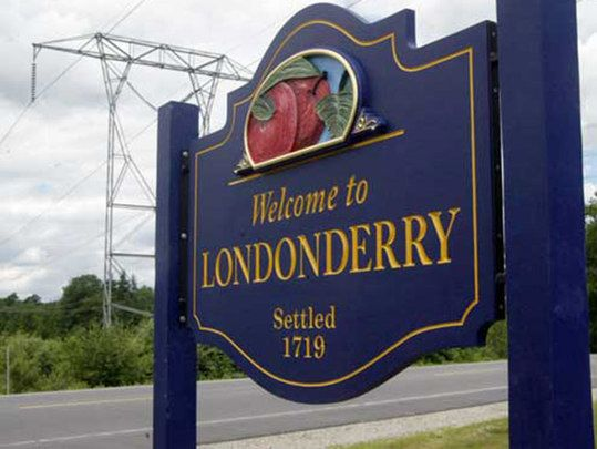 Irish place names in the US: Derry and Londonderry, New Hampshire.