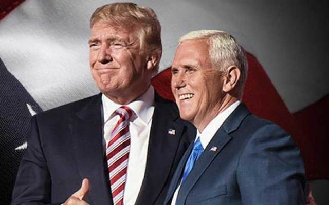 United States President Donald Trump and Vice President Mike Pence.