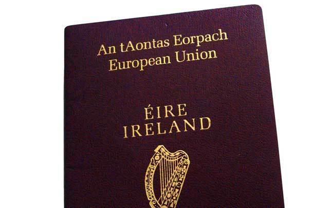 An Irish passport.