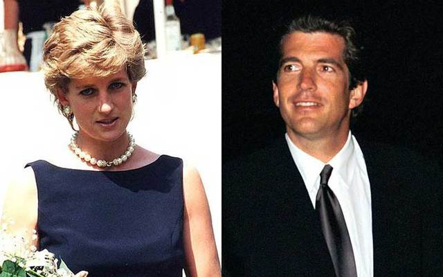 Princess Diana and, in a separate photo, John F Kenndy Jr.
