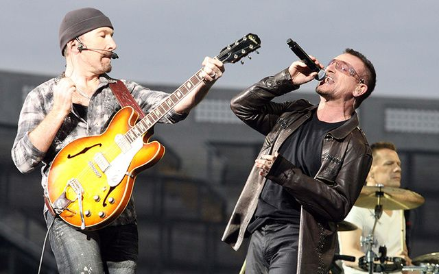 U2 museum in Dublin will include exhibits on the band's members such as The Edge and Bono pictured here.