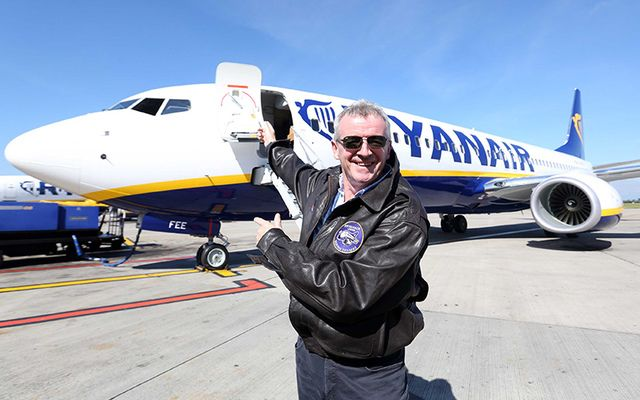 Ryanair boss Michael O\'Leary introduces new Ryanair slimline seats with extra legroom for passengers.