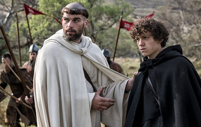 Brilliant new thriller Pilgrimage: Stanley Weber as Brother Geraldus and Tom Holland as Brother Diarmuid