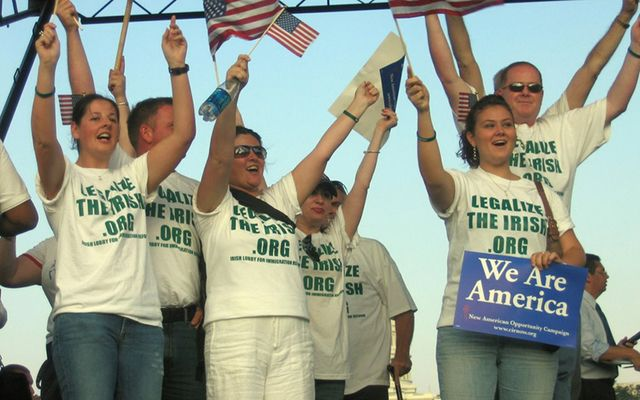 Campaigners rallying in 2007 for comprehensive immigration reform: It\'s time for the Irish to go it alone.