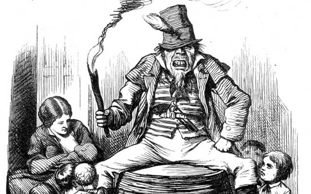 """The Fenian Guy Fawkes,"" an 1867 anti-Irish cartoon by John Tenniel from the magazine Punch."