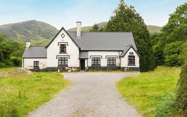 The Old School House. Glenmore, Lauragh, Co Kerry is for sale for €99,000 ($115,000).