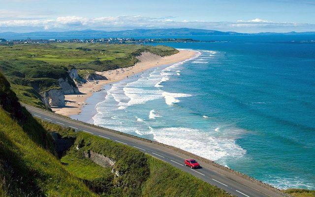 The jaw-dropping Irish coastline along the Causeway Coastal Route.