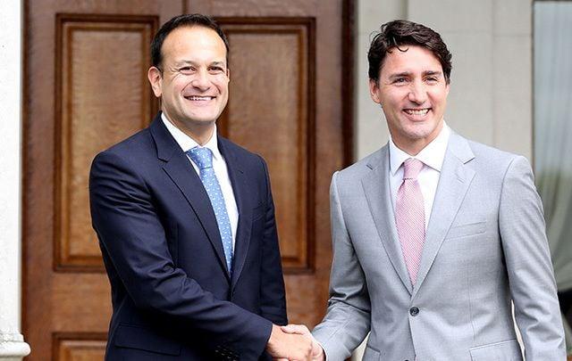 Taoiseach Leo Varadkar and Canadian Prime Minister Justin Trudeau.