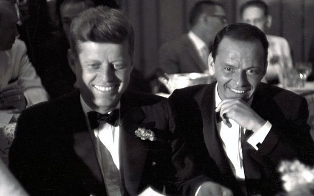 President John F. Kennedy and Frank Sinatra enjoyed a close friendship until JFK was elected.