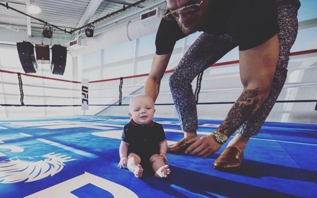 Conor McGregor Jr and his Dad take to the boxing ring in Los Vegas.