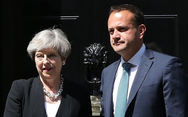 Taoiseach Leo Varadkar and British Prime Minister shake hands outside Number 10 some weeks ago.