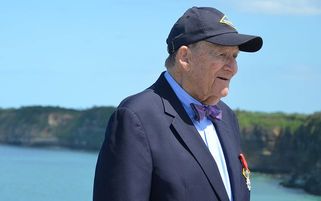 George G. lein at the Normandy anniversary celebrations earlier this year.