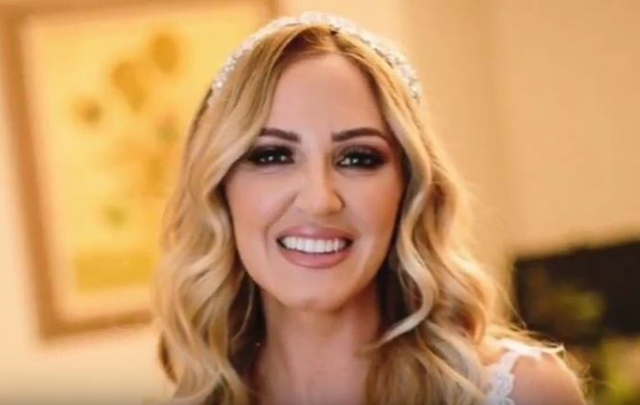 Aoife McGregor on the day of her wedding.