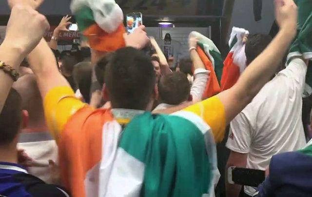 Irish fans react to McGregor\'s fight.