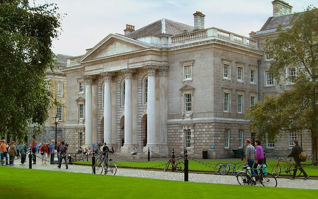 The beautiful exterior of Trinity College Dublin, in the heart of Dublin city.