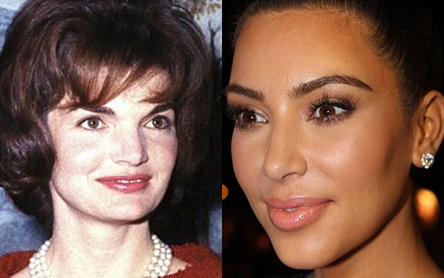 Jackie Kennedy and Kim Kardashian West