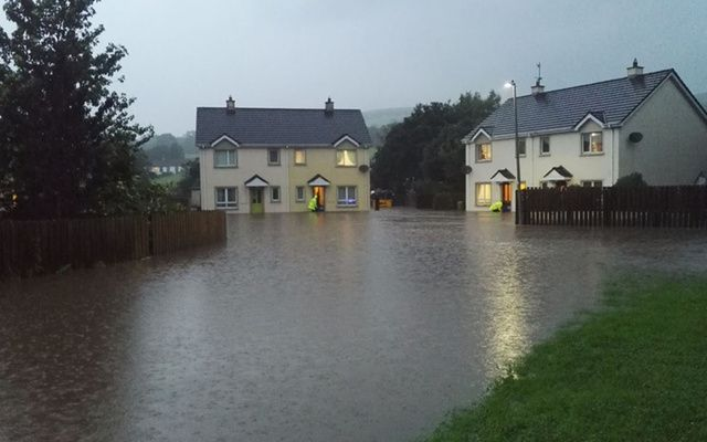 Houses flooded in Burnfoot, Donegal