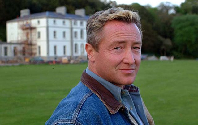 Michael Flatley outside his former home, Castle Hyde, Fermoy, Co. Cork.